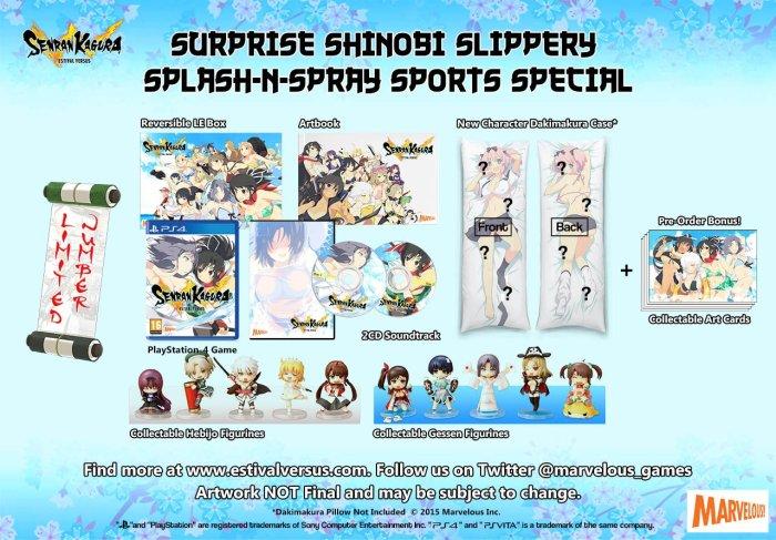senran kagura estival versus surprise shinovi slippery