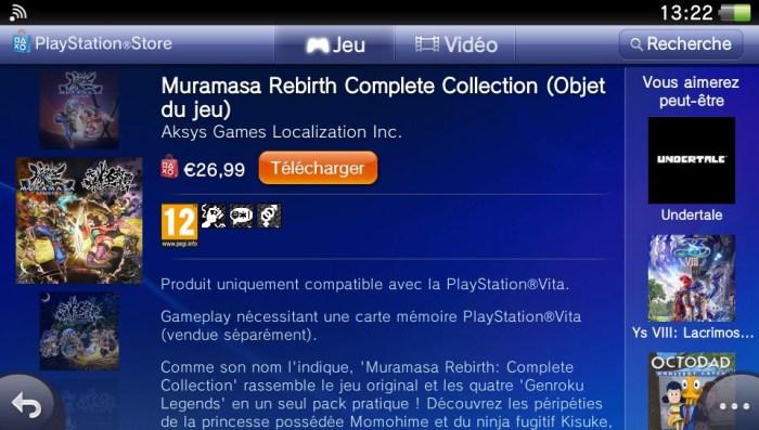 Muramasa Rebirth Complete Collection PS Vita