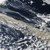 Images satellites du panache de cendres du volcan Eyjafjöll (Islande)