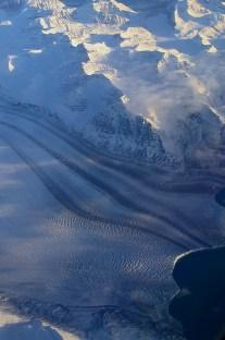 Vue aérienne du Groenland - glacier - Photo JMDigne - 24 octobre 2015