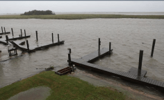 Apalachicola avant que Hermine touche terre le 01/09/2016 - Photo Heather Laiphart