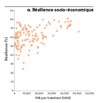Résilience socio-économique - Source : Estimations de la Banque mondiale