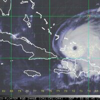 Ike : l'oeil de l'ouragan au-dessus des îles Turcs et Caïques