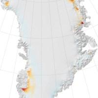 Fusion sur la calotte glaciaire du Groenland en 2008