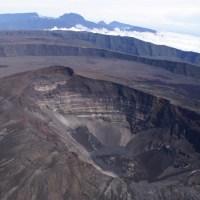 Image satellite du Piton de la Fournaise (île de la Réunion) 2009
