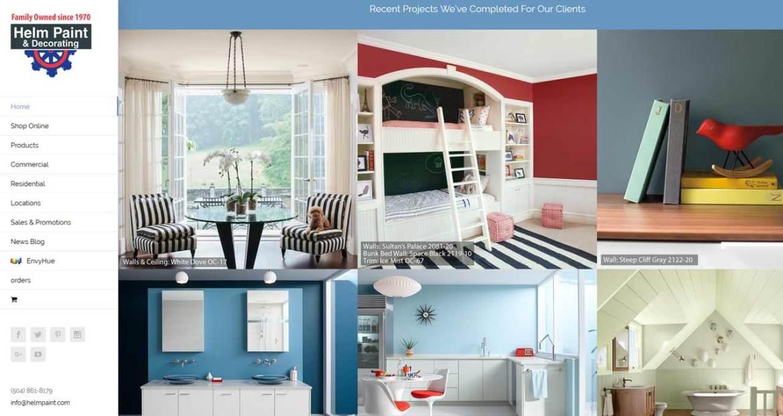 helm paint website design image