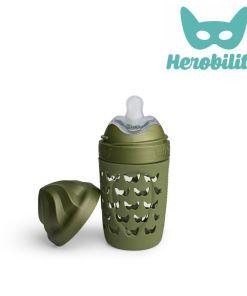 herobility_eco-line baba környezetbarát cumisüveg 220|320ml_terep_zöld