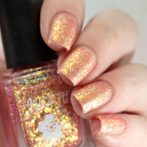 4 finger swatch of Nailed It Nail Polish Cutie Pie one of four polishes in the Candygram Collection Matte