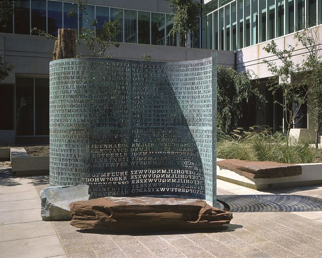 Kryptos_sculptor