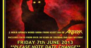 Scott Ian 'Speaking Words' – Limelight 2, Belfast – June 7 2013