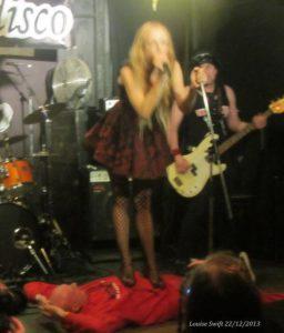 A blurrry (sorry) Nina walks all over Alan - the Human Doormat!