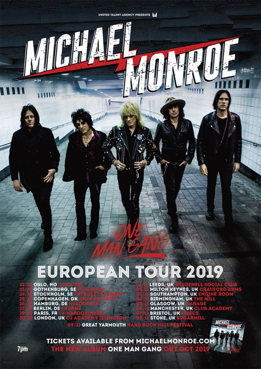 Michael Monroe Tour Poster