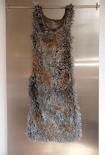 Dress made of nails by Louise Richardson