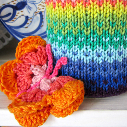 orange crochet butterfly