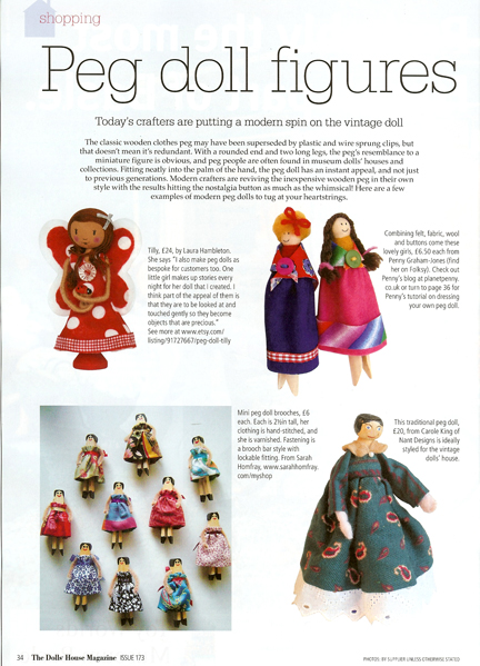 Dolls' House Magazine Dolly Peg doll feature Page 1