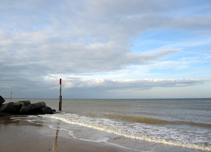 Norfolk sky, sea and sand