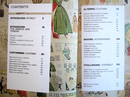 Sew Over It Contents PAge