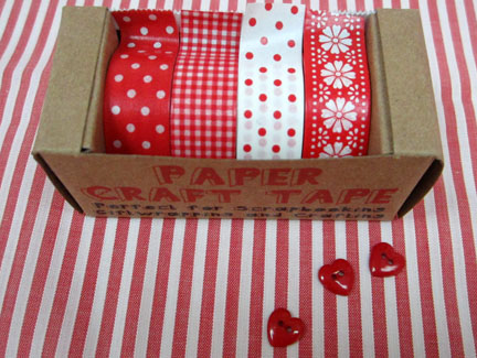 Red and White paper tape - Advent Calender Day 1