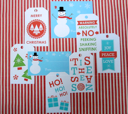 printable tags for Advent Calendar