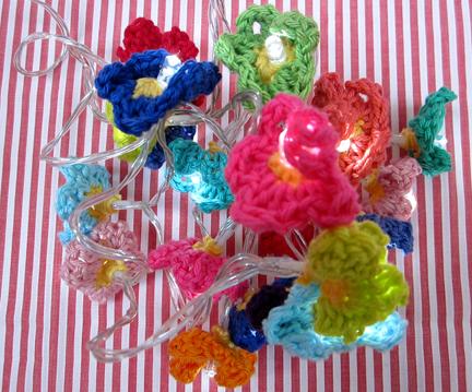Crochet Fairy Lights for Advent Calendar Day 13