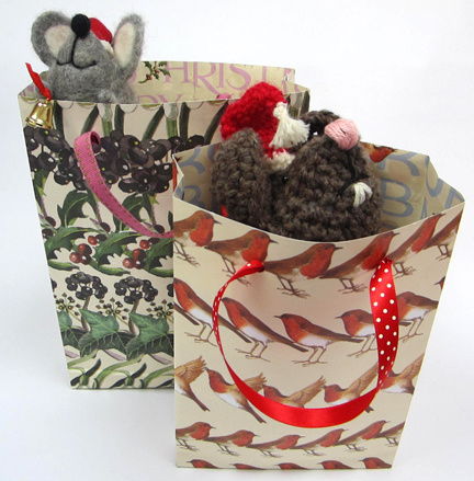 Gift Bags and Mice for Advent Calendar Day Eleven