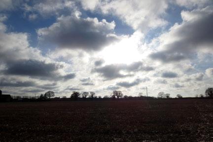 Norfolk Sky - feeling blue