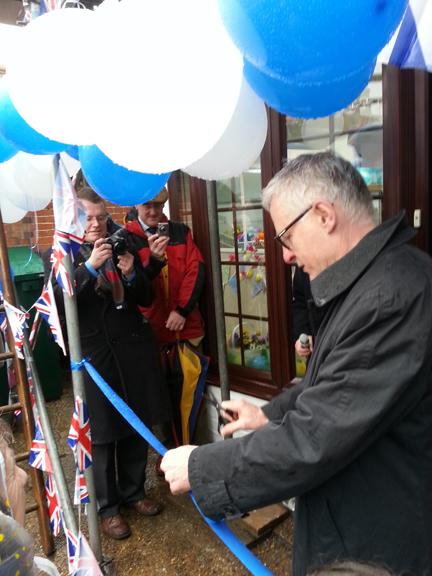 Tr Hon Norman Lamb MP opening shop