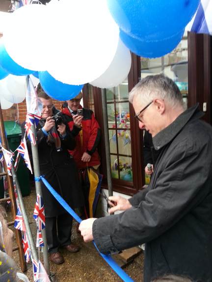 Tr Hon Norman Lamb MP opening shop