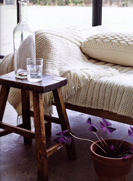 Throw and Cushion from The Knitted Home - Ruth Cross