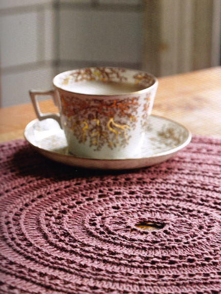 circular place mat - The Knitted Home - Ruth Cross