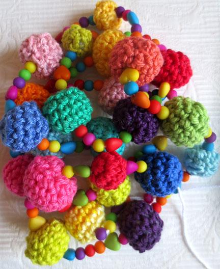 crochet balls on string