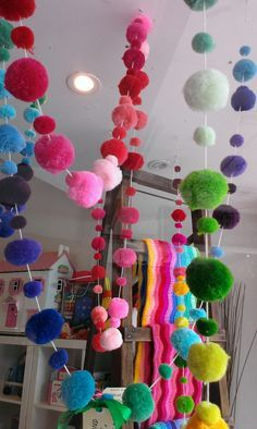 pompom garland Day 210 Christmas Countdown