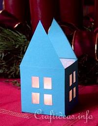 paper houses Christmas Countdown