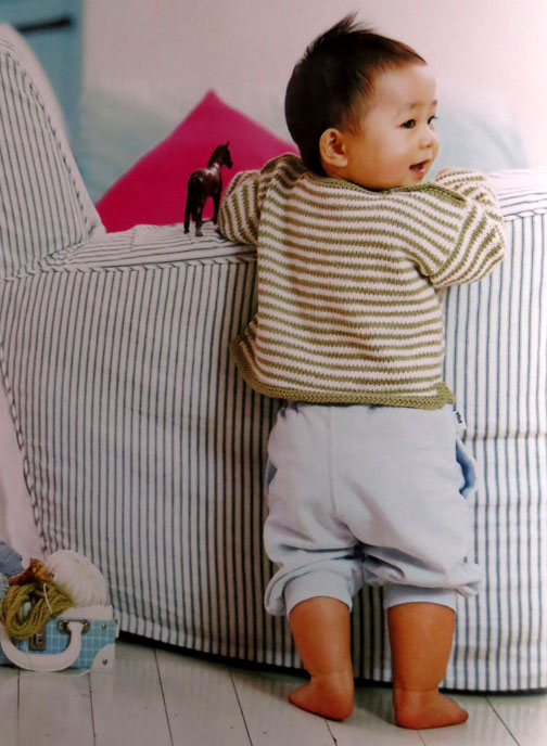 striped jumper Debbie Bliss Baby knits