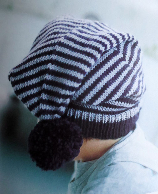 striped hat Debbie Bliss baby knits
