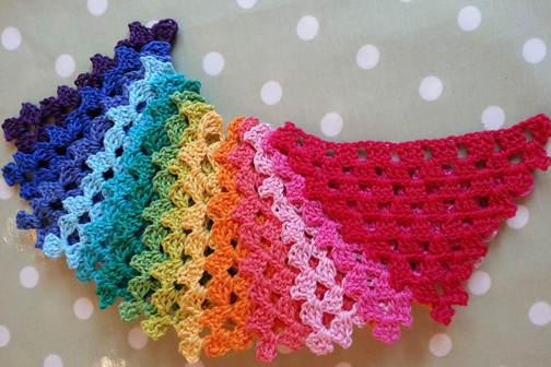 crochet bunting - Planet Penny Cotton