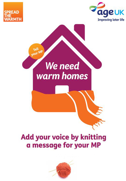 Age Uk We Need Warm Homes leaflet