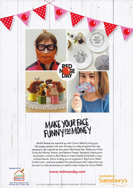 The Big Comic Relief Crafternoon Magazine back cover