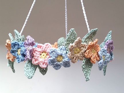 Crochet Butterfly and Flower Mobile - PDF pattern - Planet Penny