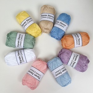 Planet Penny Cotton Yarn - New Pastel Shades for Crochet Butterfly & Flower Mobile