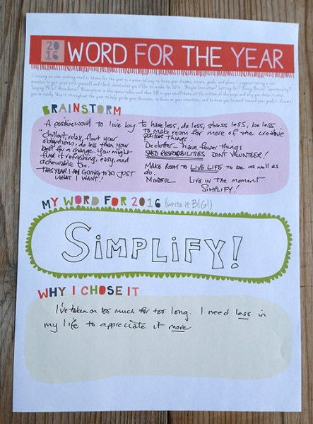 Word for the year - Simplify