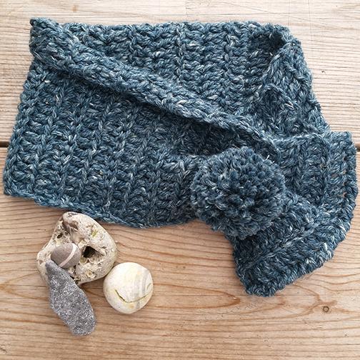 Rowan Hemp Tweed Chunky Scarflet