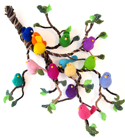 Needlefelt birds