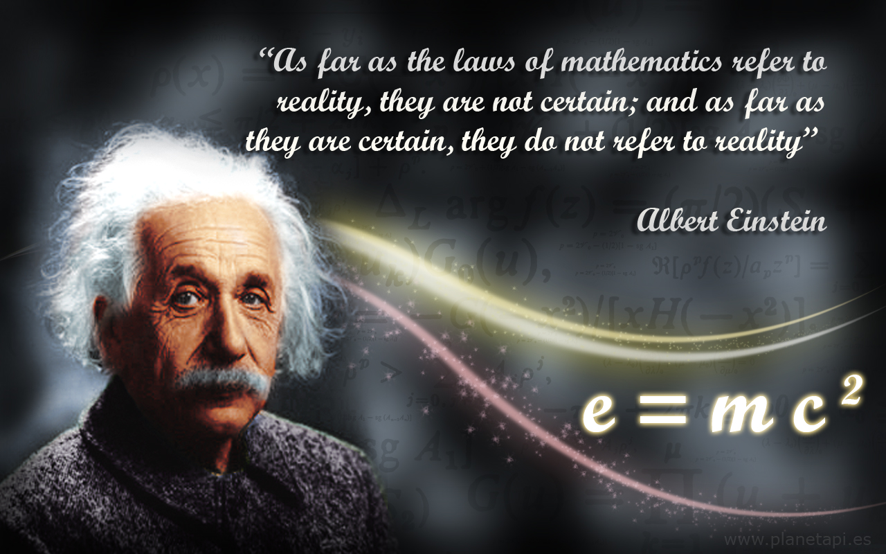 Maths Quotes  Albert Einstein   PlanetPi Maths albert einstein quotes about mathematics e mc 2