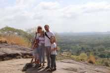 In the distance? Sigiriya Rock, wot we climbed innit