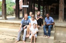 Us with our guide at Embakke Temple