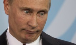 Putin crosseyed