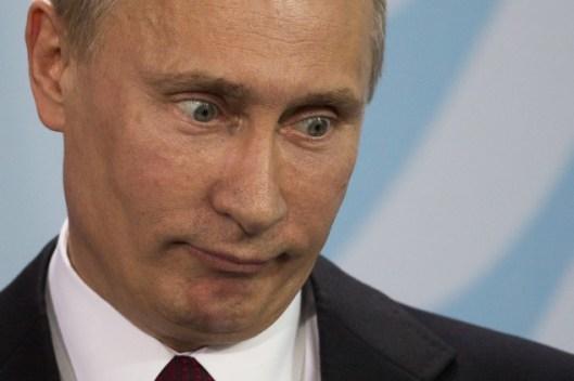 Putin crosseyed