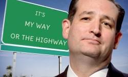 Ted Cruz his way