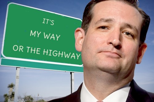 Ted Cruz his way